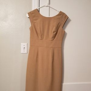 Tan Sleeveless Dress